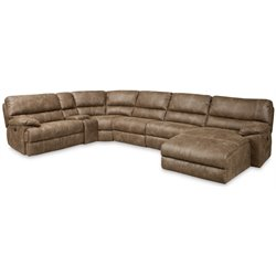 Hooker Furniture 6 Pc Right Chaise Power Sectional in Haven