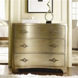 Hooker Furniture Sanctuary Three-Drawer Shaped Front Gold Accent Chest
