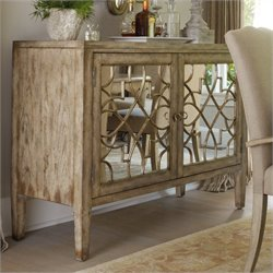 Hooker Furniture Sanctuary Two-Door Mirrored Console in Surf-Visage