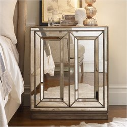 Hooker Furniture Sanctuary Two-Door Mirrored Nightstand in Visage