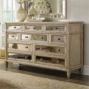 Hooker Furniture Sanctuary Ten Drawer Dresser in Pearl Essence