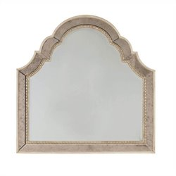 Hooker Furniture Sanctuary Shaped Landscape Mirror in Pearl Essence