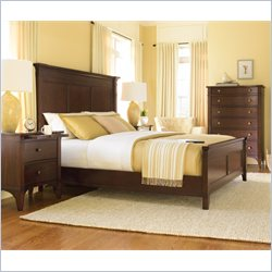 Hooker Furniture Abbott Place 4 Piece Bedroom Set in Warm Cherry