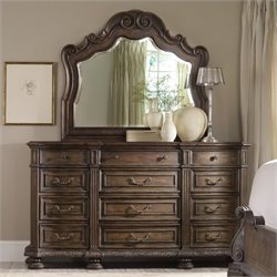 Hooker Furniture Rhapsody Twelve Drawer Triple Dresser and Mirror Set