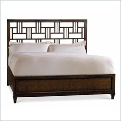 Hooker Furniture Ludlow Fretwork Bed in Walnut - Queen