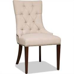 Hooker Furniture Brookhaven Upholstered Dining Side Chair in Cherry