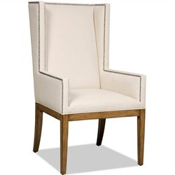 Hooker Furniture Brookhaven UpholsteredArm Dining Chair in Cherry