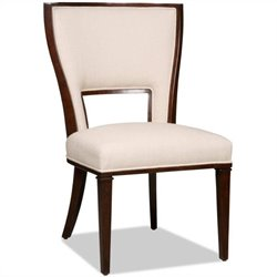 Hooker Furniture Brookhaven Upholstered Dining Armless Chair in Cherry