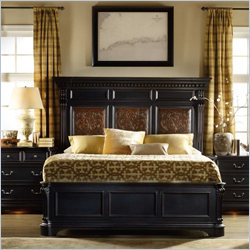 Hooker Furniture Telluride Mantle Bed in Black Paint - Queen