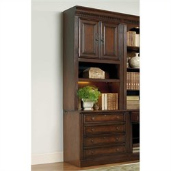 Hooker Furniture European Renaissance II Lateral File and Hutch in Cherry