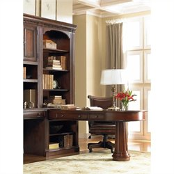 Hooker Furniture European Renaissance II Peninsula Desk and Hutch in Cherry