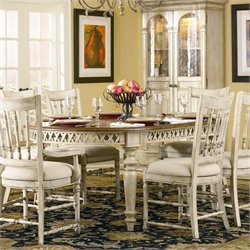 Hooker Furniture Summerglen Oval Dining Table with Leaves in Antique White