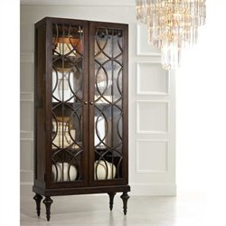 Hooker Furniture Melange Adaira Display Cabinet in Walnut