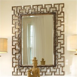 Hooker Furniture Melange Fretwork Mirror in Gold Finish
