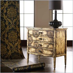 Hooker Furniture Melange Cache Chest in Matte Gold