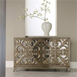 Hooker Furniture Melange Metallic Fleur-de-lis Mirrored Credenza