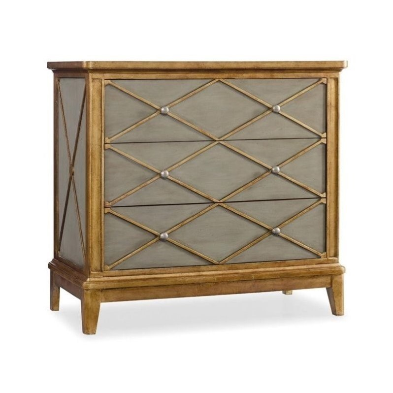 Hooker Furniture Melange Paxton Accent Chest in Soft Muted Green