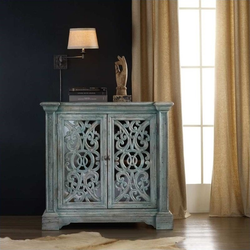 Hooker Furniture Melange Artesia Accent Chest in Soft Blue