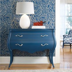 Hooker Furniture Melange Regatta Blue Bombe Accent Chest
