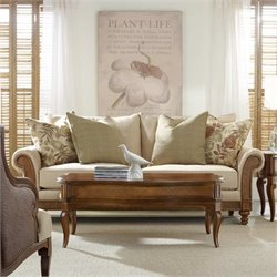Hooker Furniture Windward Upholstered Sofa in Dark Honey