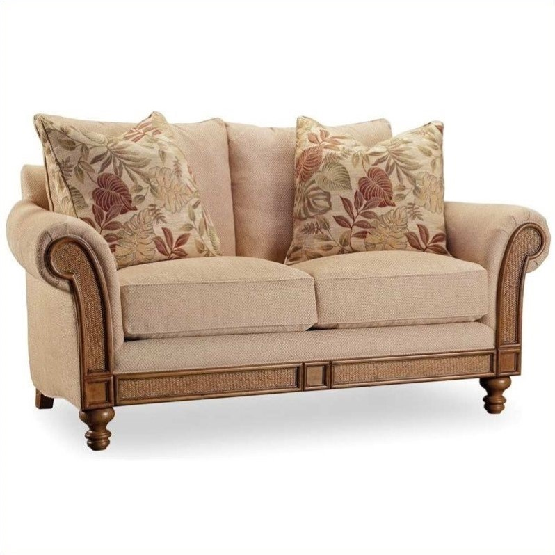 Hooker Furniture Windward Upholstered Loveseat In Dark Honey 1125 52014