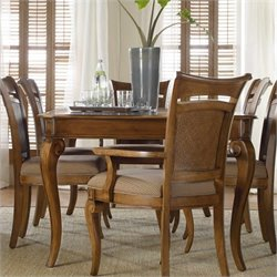 Hooker Furniture Windward Rectangular Leg Dining Table with Leaf Brown Cherry