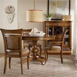 Hooker Furniture Windward Pedestal Dining Table 5 Piece Dining Set
