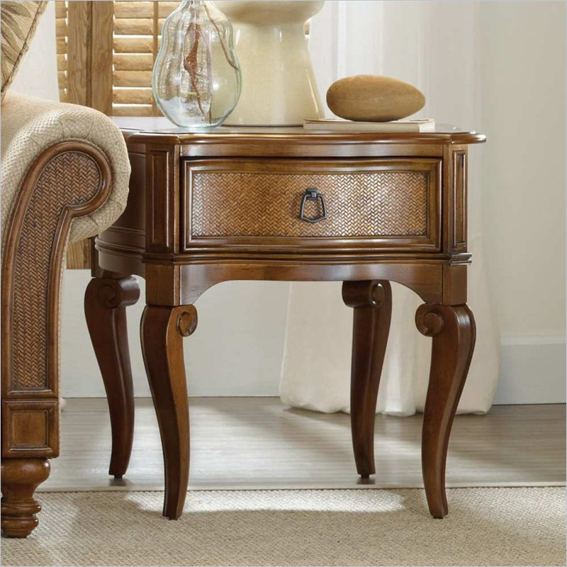 Hooker Furniture Windward End Table in Light Brown Cherry