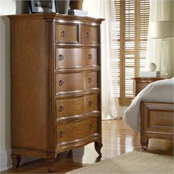 Hooker Furniture Windward Six Drawer Chest in Light Brown Cherry