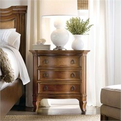 Hooker Furniture Windward 3-Drawer Nightstand in Light Brown Cherry