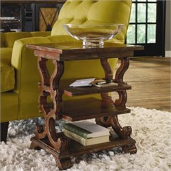 Hooker Furniture Sanctuary Rectangular Accent End Table in Rustic Red