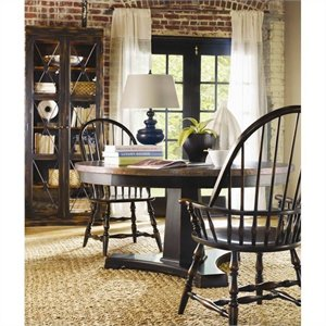 Hooker Furniture Sanctuary 5 Piece Round Pedestal Dining Table Set