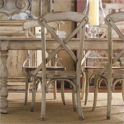 Hooker Furniture Wakefield X Back Dining Side Chair in Taupe