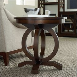 Hooker Furniture Kinsey Round End Table in Walnut