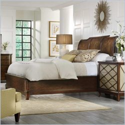 Hooker Furniture Classique Platform Sleigh Bed in Medium Chestnut - California King