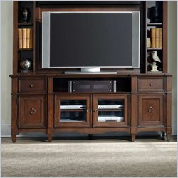Hooker Furniture Riley Entertainment Console 78 inch in Medium Brown
