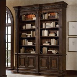 Hooker Furniture Adagio Double Bookcase without Ladder and Rail