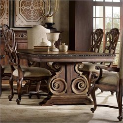 Hooker Furniture Adagio Rectangular Pedestal Dining Table with Leaves