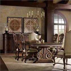 Hooker Furniture Adagio 7 Piece Rectangular Pedestal Dining Table Set