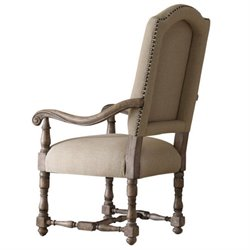 Hooker Furniture Sorella Upholstered Arm Dining Chair in Warm Brown