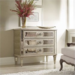 Hooker Furniture Sutherland Three Drawer Antique Mirrored Chest
