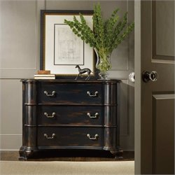 Hooker Furniture Black Three Drawer Accent Chest