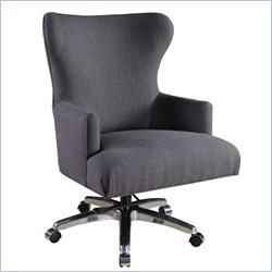 Hooker Furniture Felton Charcoal Fabric Executive Chair in Chrome