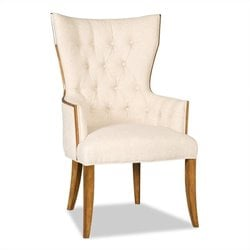 Hooker Furniture Decorator Tufted Dining Arm Chair in Drift
