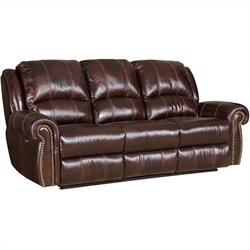 Hooker Furniture Seven Seas Power Motion Loveseat in Saddle Brown