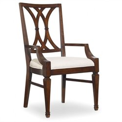 Hooker Furniture Palisade Splat Back Arm Dining Chair in Walnut