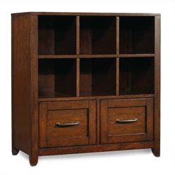 Hooker Furniture Wendover Utility Bookcase Pedestal in Distressed Cherry