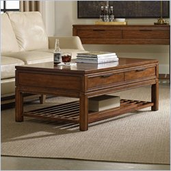 Hooker Furniture Chatham Rectangular Cocktail Table in Rich Cherry
