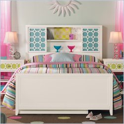 Hooker Furniture Opus Designs Lily Storage Bed with Panel Footboard in Eggshell White - 55 inch