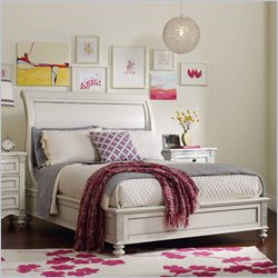 Hooker Furniture Opus Designs Claire Queen Sleigh Bed in White